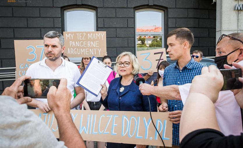 Ratujmy Wilcze Doły - konferencja prasowa