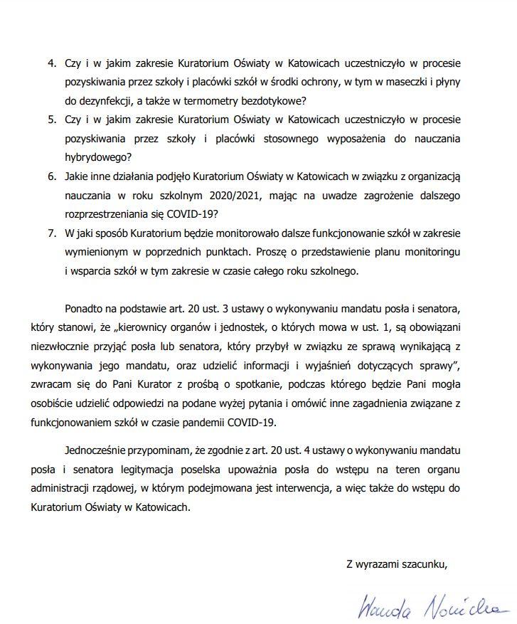 Interwencja w Śląskim Kuratorium Oświaty