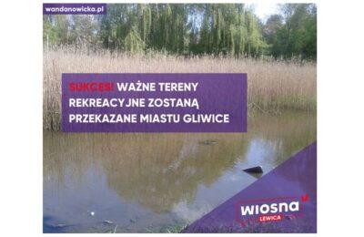 Miasto Gliwice staje się właścicielem Stawu Szuwarek