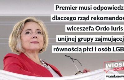 Wiceszef Ordo Iuris ma zajmować się w UE równością płci i osób LGBT?